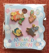 【Rare!】Japan Disney sea Little Mermaid Pin Baby Ariel Flounder Sebastian Ursula