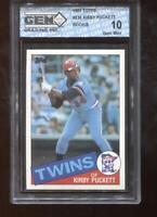 Kirby Puckett RC 1985 Topps #536 Twins Rookie GEM MINT 10