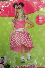 MINNIE MOUSE GIRLS COSTUME Disguise Medium 7-8 Disney Pink Dress Ears 72593K NEW