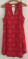 Ladies GAP Red Pattern Casual Dress Size Large - BNWT