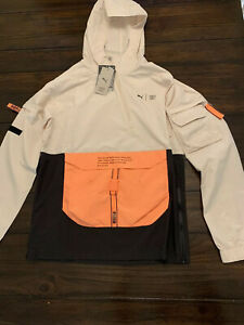 Puma X First Mile Utility Windcell Men's Sz S Running Hooded Jacket Active Top