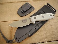 Couteau ESEE Model 3 Od Green Carbone 1095 Manche Micarta Etui Kydex USA ES3PMDT