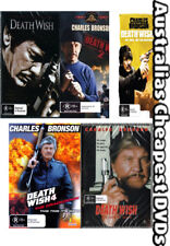 Death Wish 1,2,3,4 &5 Collection DVD NEW, FREE POSTAGE WITHIN AUSTRALIA REGION 4