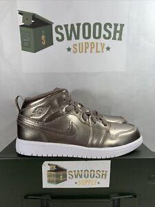 Nike Air Jordan 1 Mid SE PS Sepia Stone White Noble AV5173 200 KIDS US SIZE 2Y