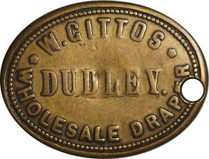 Brass Check Ticket W. Gittos Wholesale Draper Dudley VF