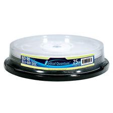 10 Optical Quantum 2x 25GB Blue Blu-ray BD-RE Rewritable Logo Top  OQBDRE02LT-10