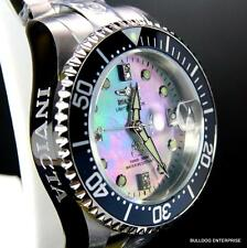 Lady Invicta Grand Diver Automatic Diamond Ltd Edition Platinum MOP Watch New