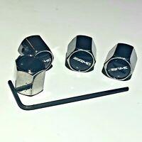4 Ventilkappen Mercedes Benz - AMG - Chrom - Diebstahlschutz - Metall - Auto -