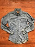 vintage levis chambray Denim shirt Orange Tab Small 70s