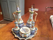 VINTAGE FIVE PIECE PLUS TRAY...MADE IN JAPAN..LUSTERWARE CRUET SET