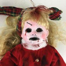 """Dead Zombie Halloween Haunted Prop OOAK Terror Creepy Porcelain Doll 14"""""""