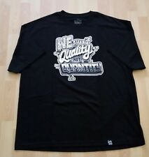 WE NEED QUALITY Control Black Men's T Shirt Sz 3XL Urban Street Art Streetwear