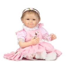 Lifelike Newborn Baby Doll 55cm / 22in Soft Silicone Toys Handmade Real Reborn