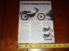 1979 YAMAHA DT100 - DT125 - DT175 ENDURO - ORIGINAL VINTAGE AD
