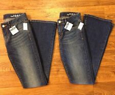 NWT 2 Pairs GAP 1969 Curvy Sz 24r Bootcut Ladies Jeans Dark Wash 28x33 Long Tall