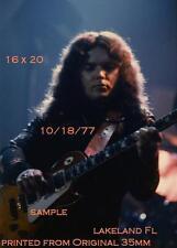 Lynyrd Skynyrd 1977 Gary Rossington 16 X 20 Color Photo Lakeland,FL Freebird