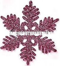 20  water slide nail art transfer decals pink Christmas snowflakes 5/8 inch