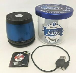 HMDX Jam Bluetooth Blueberry Blue Rechargeable Wireless Speaker HX-P230BLC GZ20