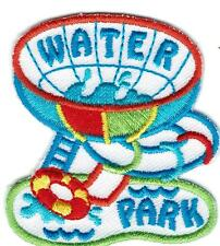 Girl Boy Cub  SLIDE WATER PARK DAY Fun Patches Crests Badges SCOUT GUIDES Visit