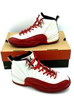 Nike Air Jordan XII Jumpman Retro Varsity White Red Shoes Boys Youth Size 6 y