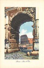 Roma Rome - Arco di Tito con Il Colosseo Colosseum Italy Postcard
