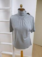BNWT Pure Collection luxe lyocell/wool blend retro jersey polo neck top size 8