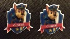 2 x Paw Patrol Chase Badge Planar Flatback Resins Flat Back Craft Hair Resins