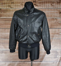 Chevignon Vintge Flying Leather Bomber Jacket Size 16 Fits Men S Women L