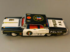 Vintage Genuine TN Made in Japan Police P.D. Fricton Metal Car