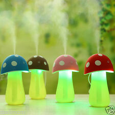 Pilz Luftbefeuchter USB Mini LED-Nachtlicht Luftreiniger Öl Diffusor Verdunster