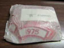 1975 Segment, Red and White, Lot of 50    c25