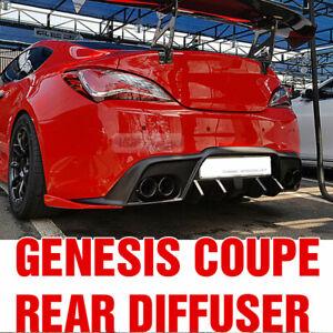 Rear Bumper Diffuser Dual-muffler Unpainted For HYUNDAI 2009-2017 Genesis Coupe