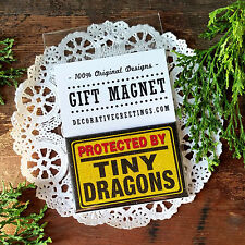 DecoWords * Protected by Tiny Dragons Fridge MAGNET Game of Thrones Fan Gift
