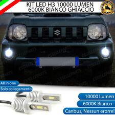 KIT LED FENDINEBBIA SUZUKI JIMNY NO AVARIA BIANCO 6000K 10.000 LUMEN LAMPADE H3