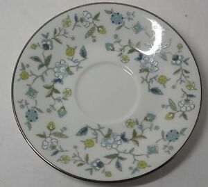 Noritake Chintz Saucer Blue Floral Pattern# 2404 Discontinued