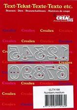 Stanz-schablone cutting die Zahlen mittel Nummer Ziffer Planer CREAlies CLTX199