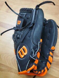 Wilson A1K 11.5  Baseball Glove Black Orange
