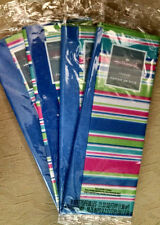 4 NEW PACKS HALLMARK TISSUE PAPER BLUE AND COLOR STRIPES FREE SHIPPING