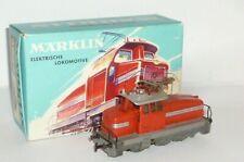 Antiguo Märklin Locomotora 3044 EA800 Escala H0 Maqueta de Tren Cartón Rojo