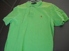 MENS Genuine Ralph Lauren POLO SHIRT Green Solid Short Sleeve Sz Medium M Used