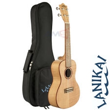 Lanikai FM-C Flame Maple Concert Ukulele with Padded Gig Bag, D'Addario Strings