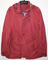 Robert Graham Mens Red Classic Utility Coat Hood Designer Jacket NWT $398 Size L