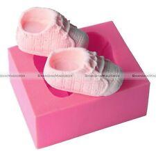 Baby Shoes Shaped Silicone Soap Mold Cake Decoration Fondant Cake 3D Mold