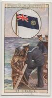 Colonial Flag British Overseas Territory of Saint Helena 80+ Y/O Ad Trade Card
