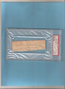 Bill Mckechnie Tough HOF autographed cut signature PSA/DNA SLABBED ***LOOK***