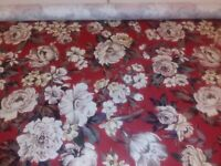 Upholstery Fabric: Sears Red  BTY