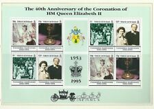 TURKS & CAICOS 1993 Sheetlet  40th ANNIVERSARY OF THE CORONATION (SG 1196/9) MNH