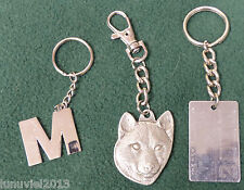 """""""I love my Shiba Inu"""" Key Chain Fob Pewter Heavy Weight - 34g + Two More Fobs"""
