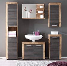 Badezimmer Badmöbel Set Nussbaum Touchwood mit Hochschrank Hängeschrank Cancun