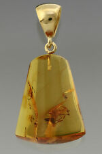 Fossil SPIDER Genuine BALTIC AMBER Silver Gold Plated Pendant 4.3g p160818-28